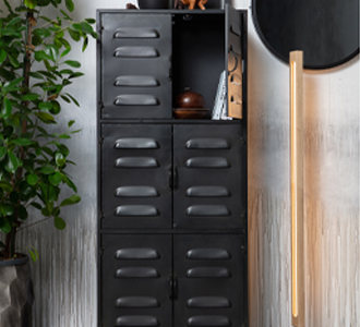 Boaz cabinet metal black