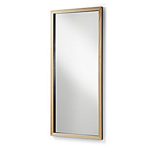 Enzo spiegel 78 x 178 cm zwart