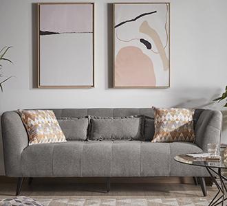 3-zitsbank Saffron bruin 200 cm