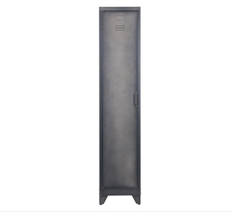 Cas lockercabinet 1 dr metal black