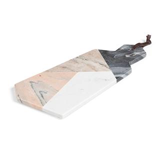 Bergman snijplank meerkleurig marmer