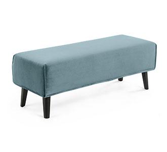Bank Dyla turquoise fluweel 111 cm