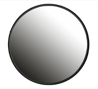Lauren round mirror l metal big