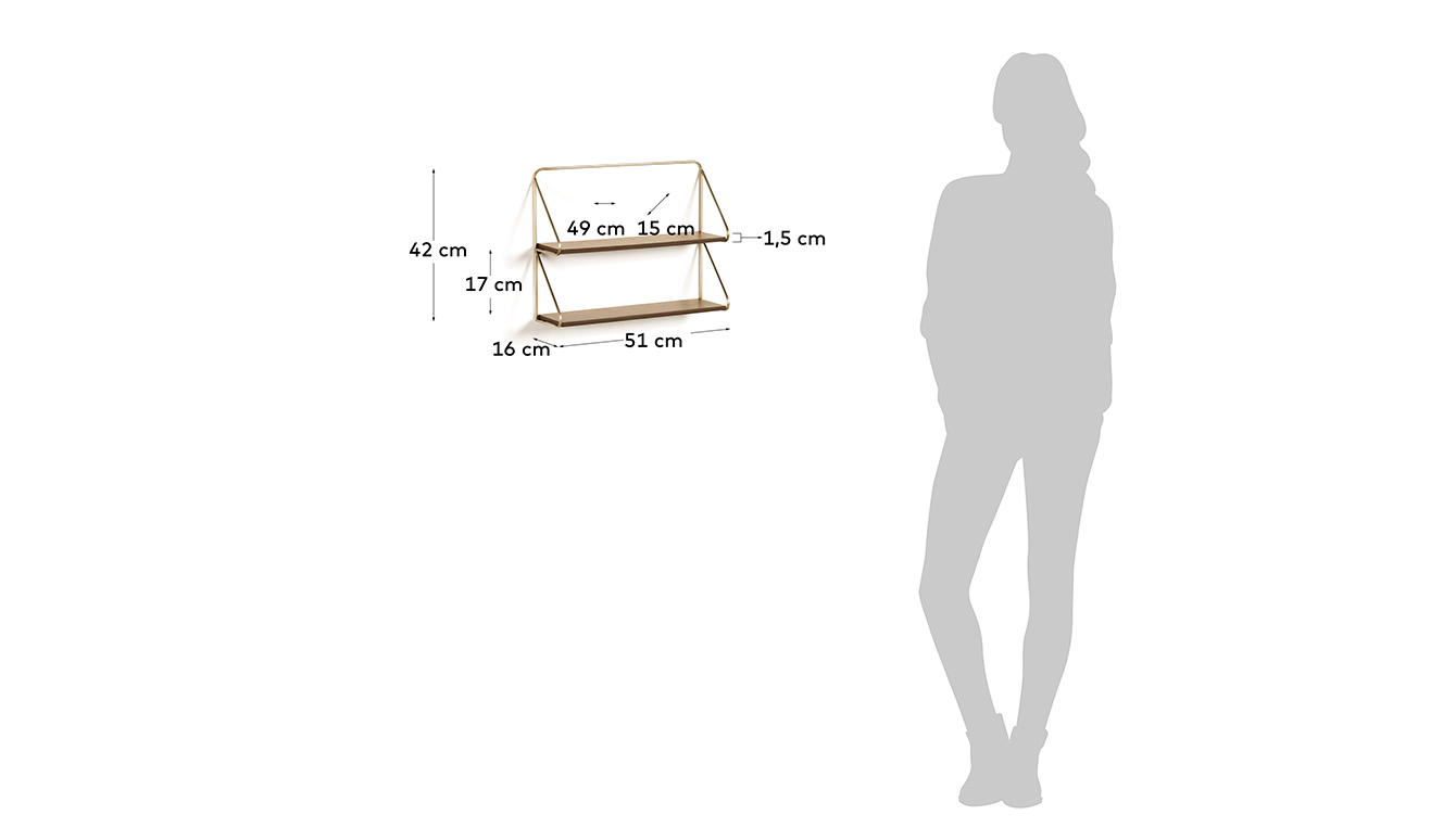 Boekenplank Catrina 51 x 42 cm