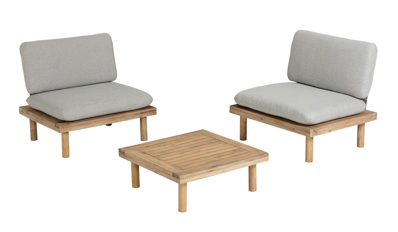 Set Viridis 2 fauteuils en 1 tafel
