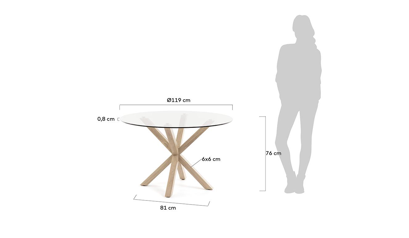 Eettafel Full Argo eikenhout Ø 119 cm