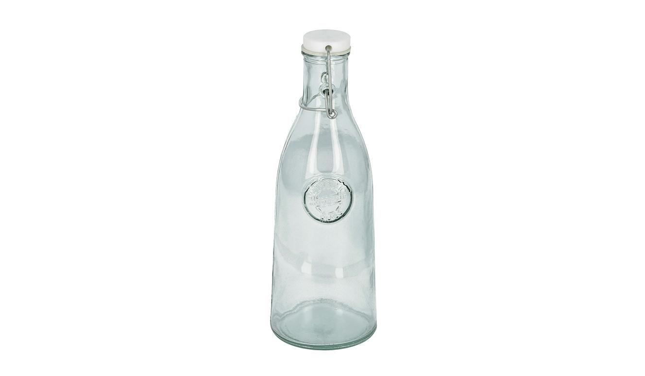 Tsiande glazen fles transparant 100% gerecycled