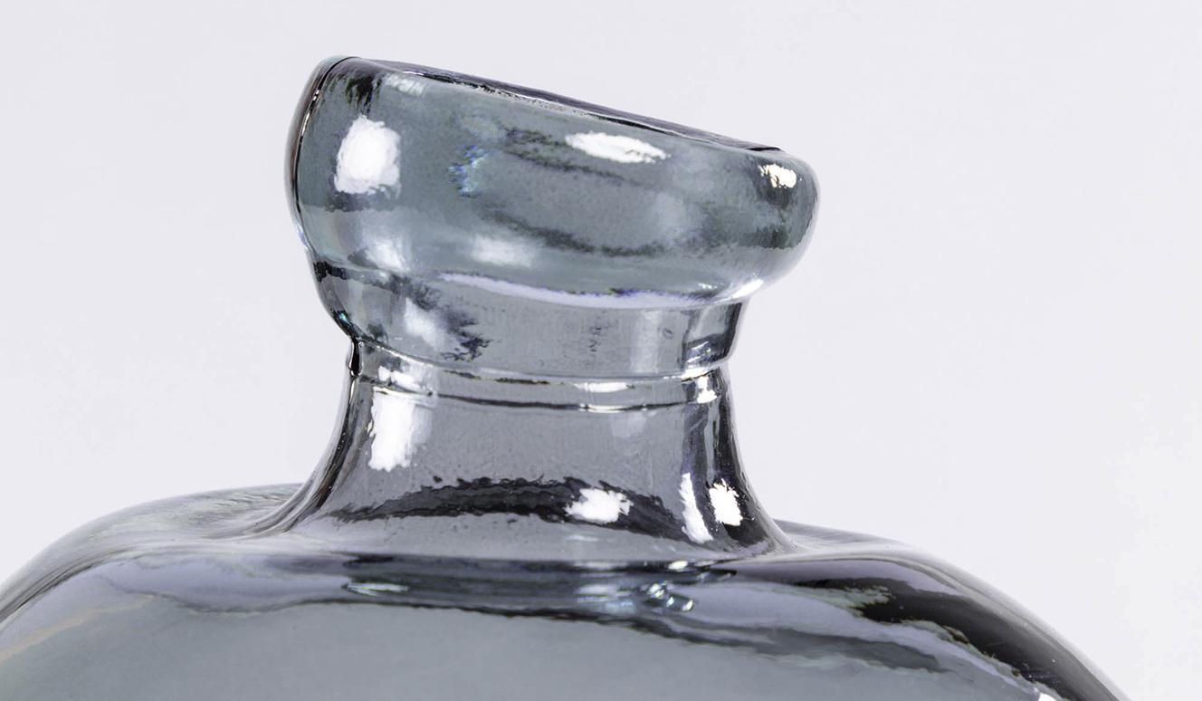 Breena grote glazen vaas blauw 100% gerecycled