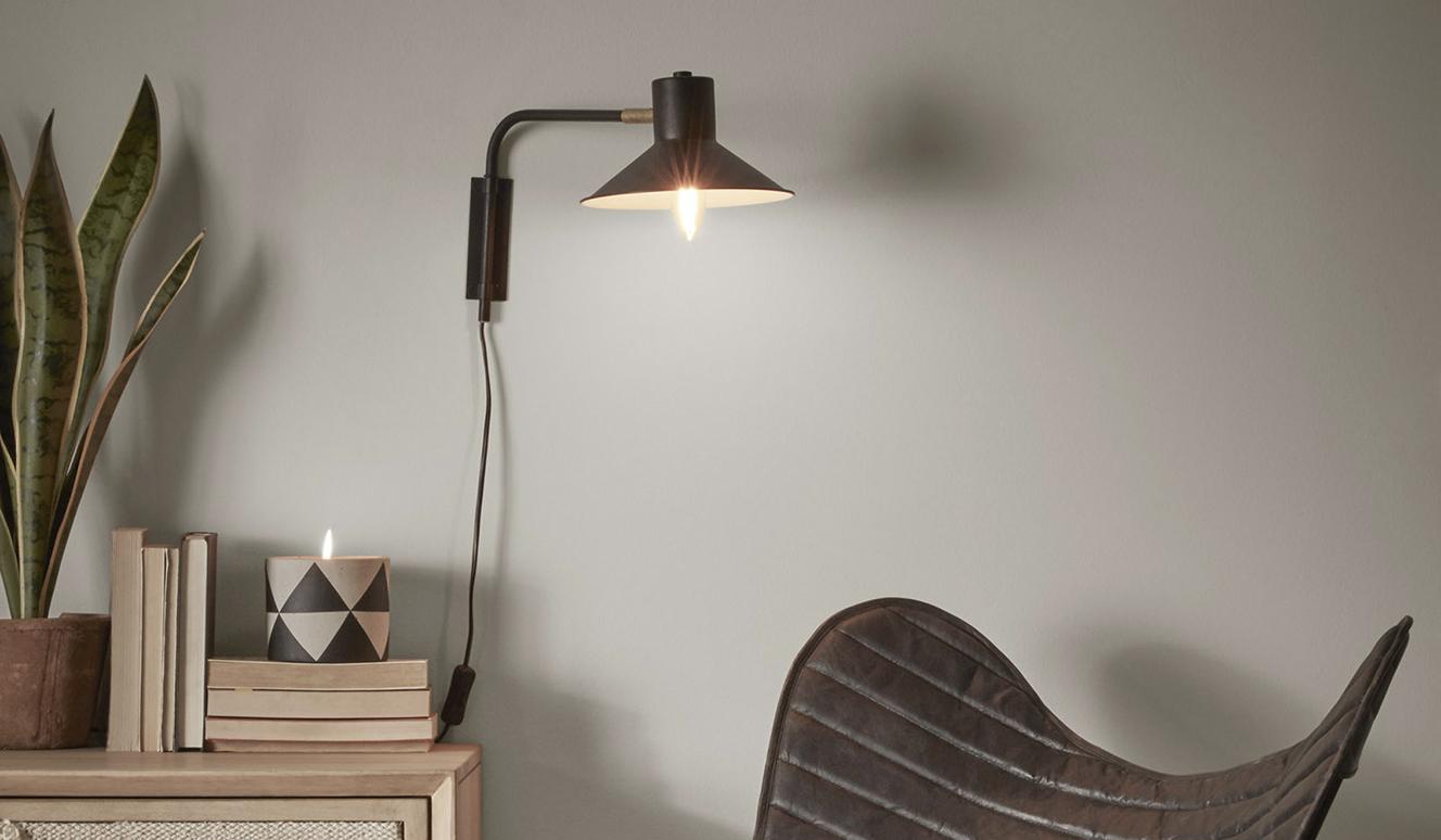Aria wandlamp zwart