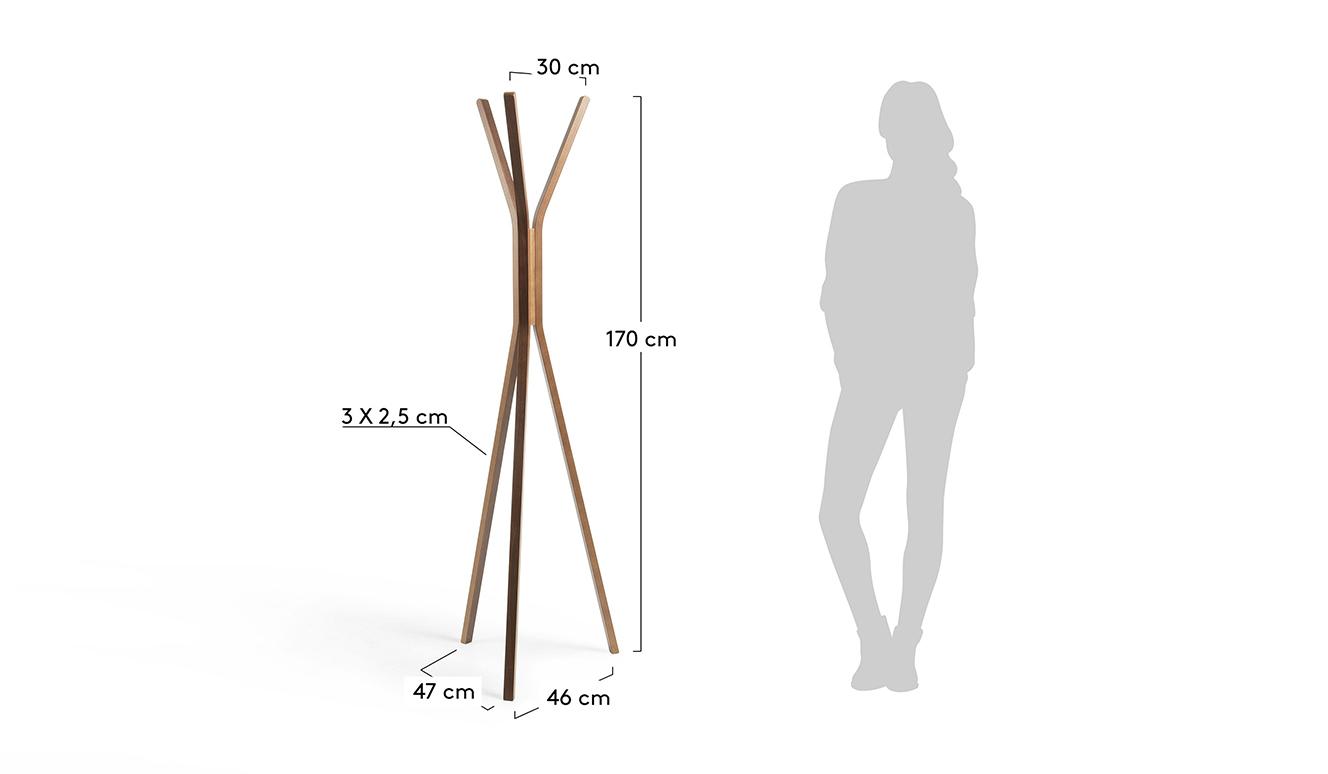 Chelsey kapstok 170 cm naturel