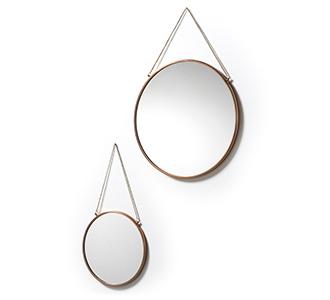 Icon set van 2 spiegels Ø 41 cm / Ø 26 cm