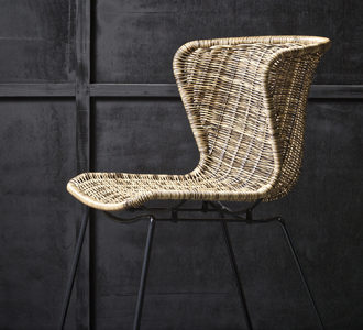 Set of 2 - wings chair natural