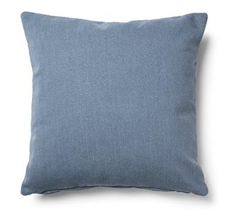 Kam kussensloop 45 x 45 cm blauw