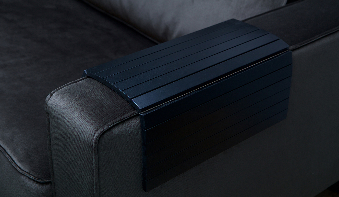 Armrest xl flexible sofa tray black