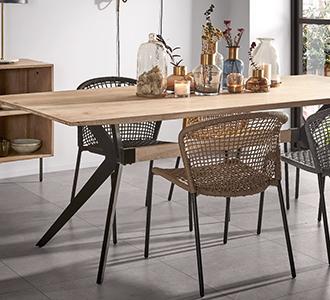 Amethist tafel van 160 x 90 cm gebleekte