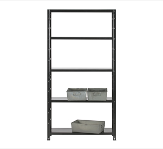 Auke wall rack metal black