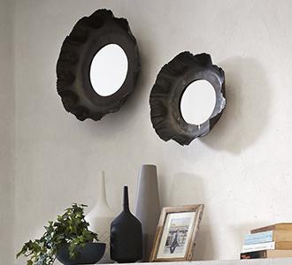 Karol set van 2 spiegels  Ø 47 / Ø 35 cm