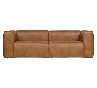 Bean 3,5-seater sofa cognac