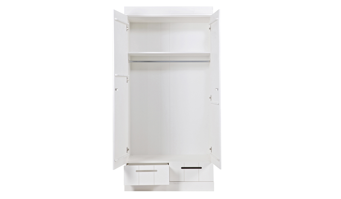 Connect 2-doors basic -drawer- locker cabinet white [fsc]