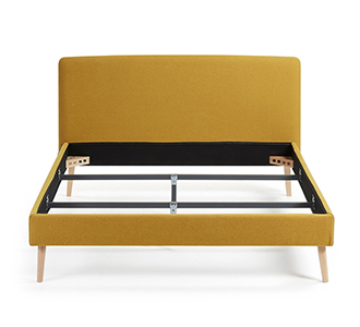 Dyla bed 160 x 200 cm mosterd