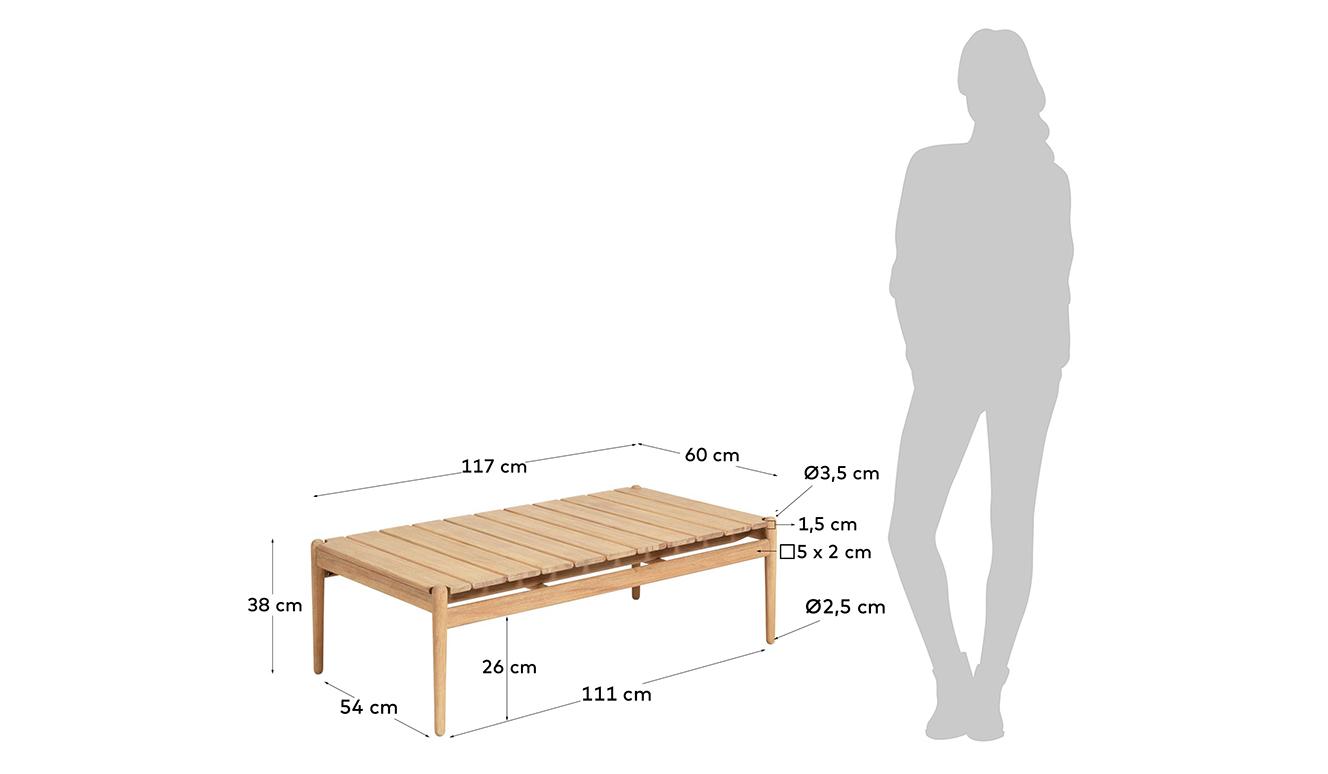 Salontafel Simja 117 x 60 cm