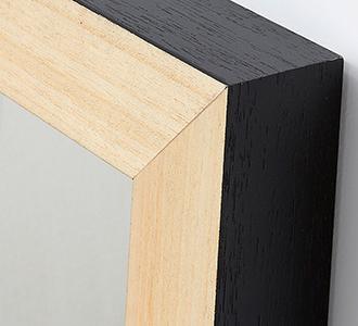 Enzo spiegel 48 x 148 cm zwart