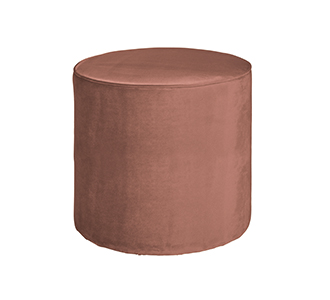 Sara round pouf high velvet old pink