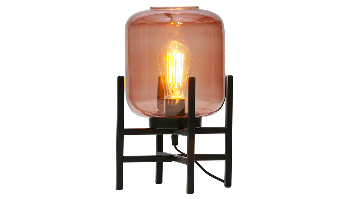 Abel table lamp glass blossom