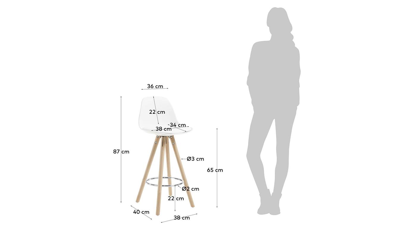 Slad Kruk wit hoogte 65 cm