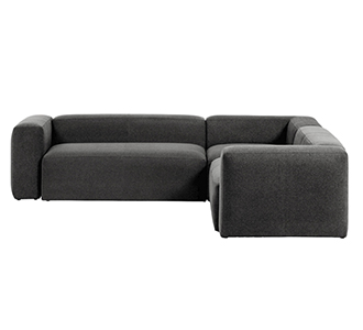 4-zits hoekbank Blok grijs 290 x 290 cm