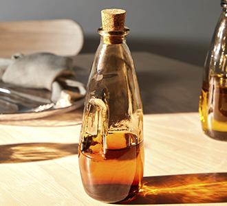 Rohan glazen fles bruin 100% gerecycled