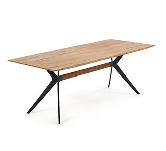 Amethist tafel van 160 x 90 cm verouderde houten