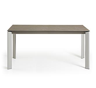 Axis uitschuifbare tafel 160 (220) cm porselein afwerking Vulcano Ash grijs benen