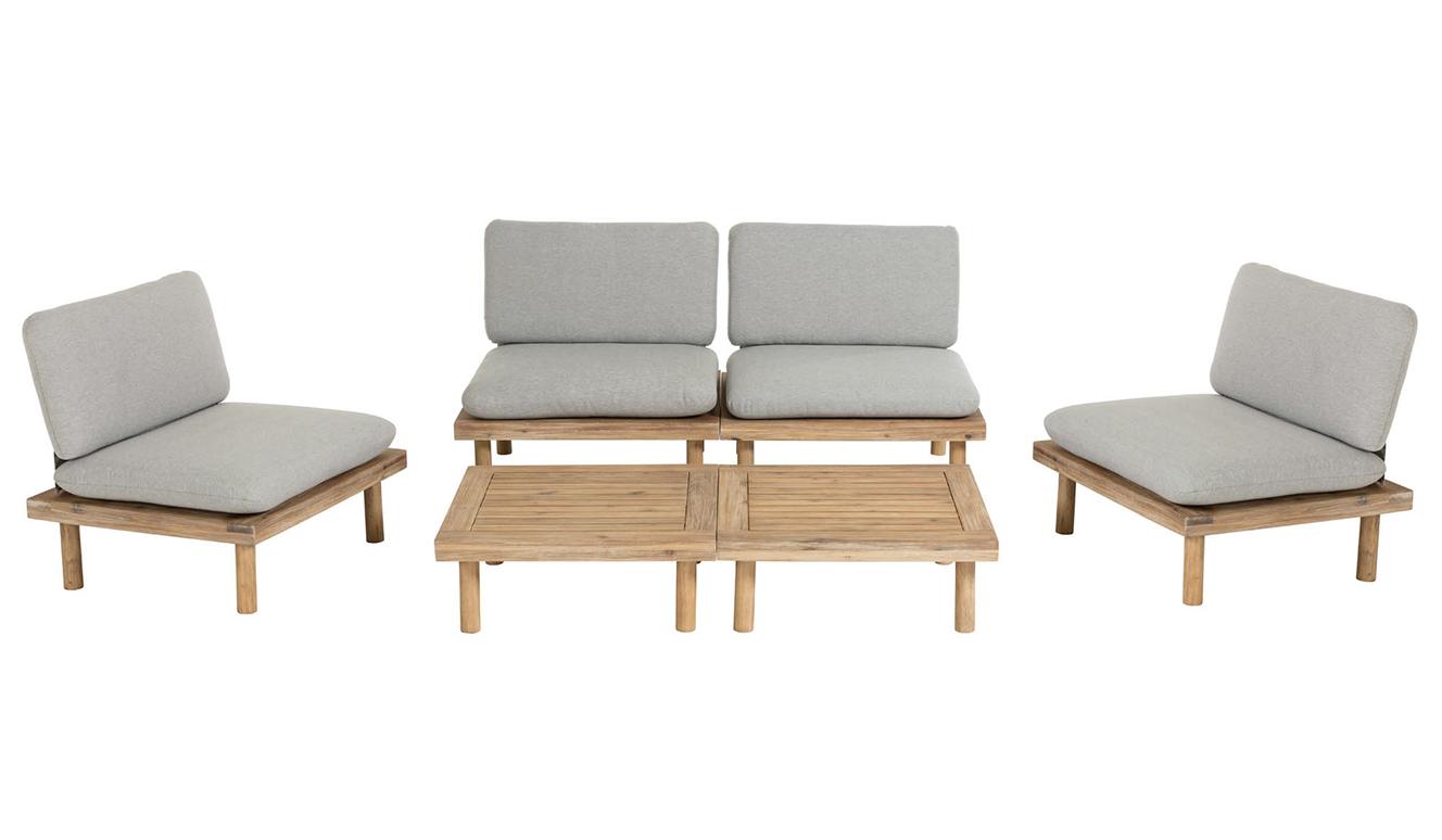 Set Viridis 4 fauteuils en 2 tafels