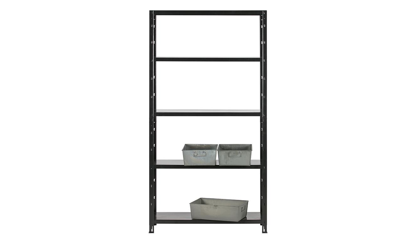 Auke wall rack metal black