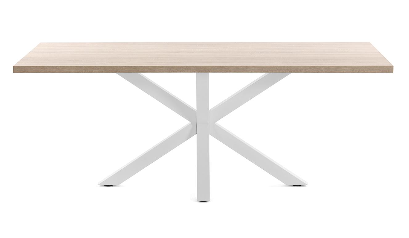 Argo tafel 160 cm natuurlijke melamine wit benen