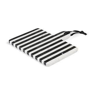 Bergman rechthoekige snijplank zwart en wit marmer