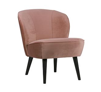 Sara armchair velvet old pink