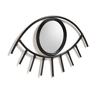 Maela-spiegel 72 x 45 cm zwarte