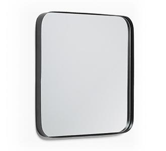Marco spiegel 40 x 40 cm zwart