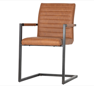 Bas dining chair pu cognac