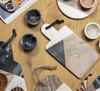 Bergman rechthoekige snijplank meerkleurig marmer