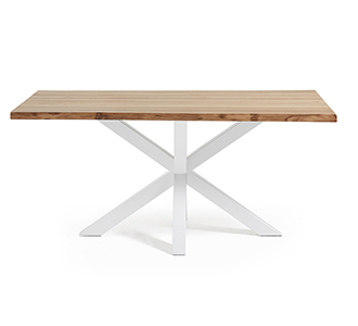 Argo tafel 180 cm natuurlijke eik wit benen