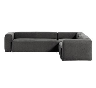 5-zits hoekbank Blok grijs 320 x 290 cm