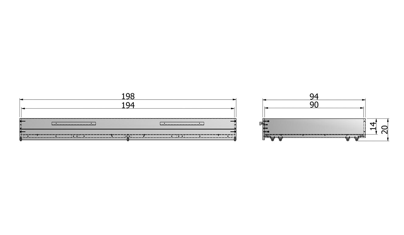 Dennis mattress / bed drawer concrete gray brushed [fsc]