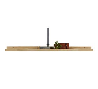 Studio photoframe shelf, solid oak 120cm