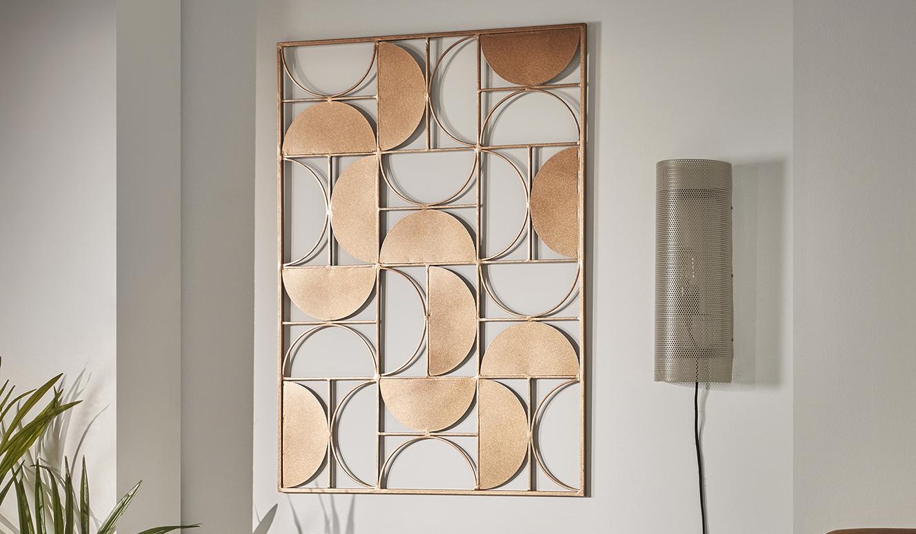 Metalen schilderij Bronde 72 x 100 cm