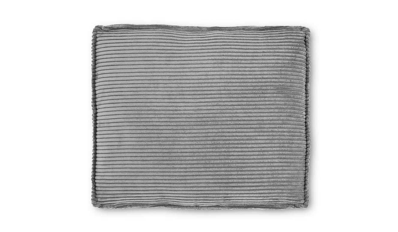 Kussen Blok 60 x 70 cm grijs corduroy