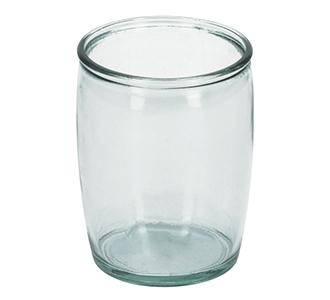 Trella glazen badkamer beker transparant 100% gerecycled