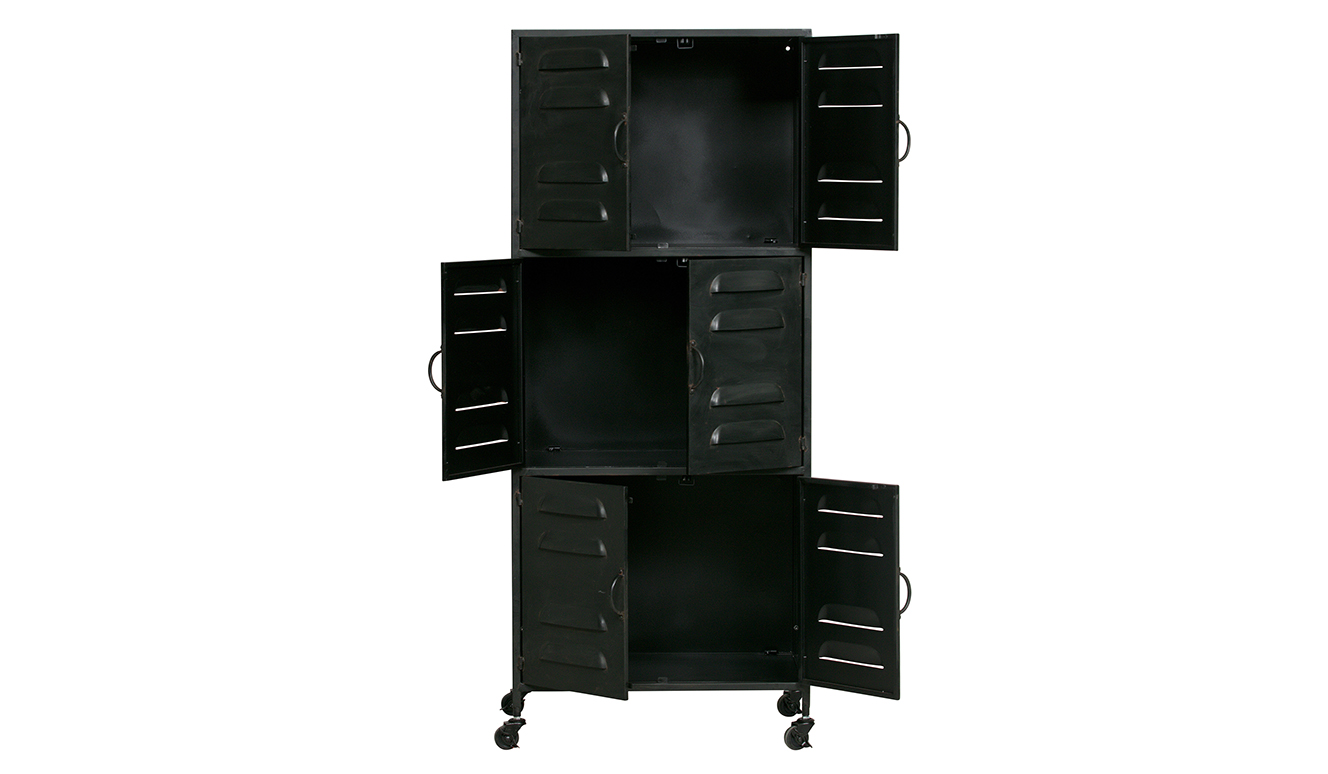 Boaz cabinet metal black
